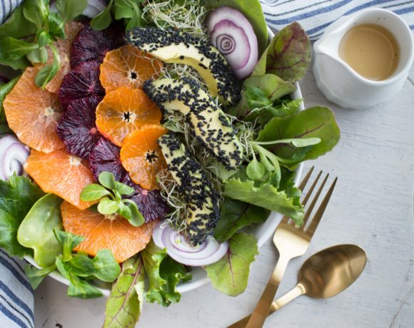 blood orange citrus salad w/citrus dressing