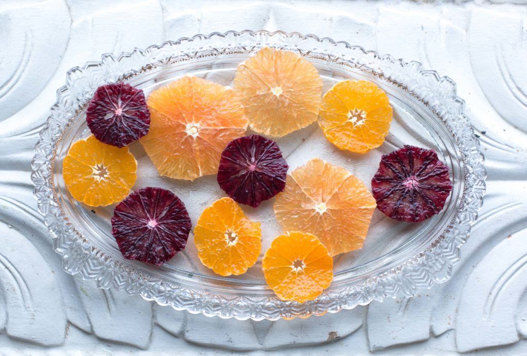 Oranges and blood oranges