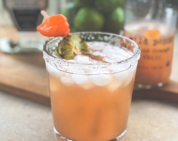 Impromptu Blood Orange Chili Margarita