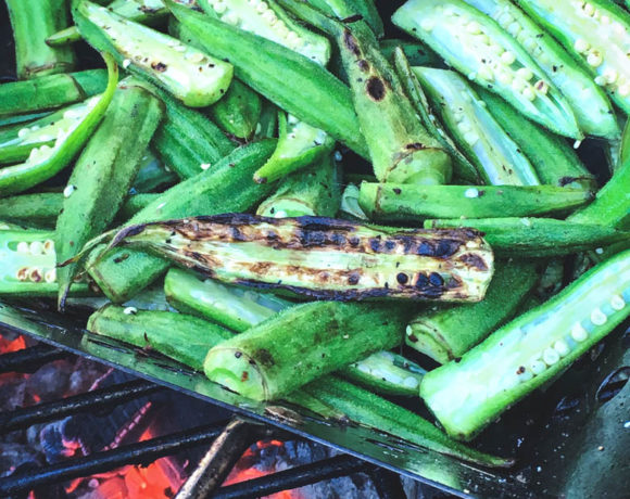 Egg Grilled Okra