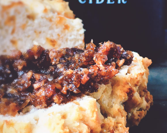 Virtue Cheesy Cider Bread w/Bacon Jam