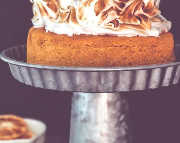 Wicked Pumpkin Angel Food Cake w/Italian Meringue