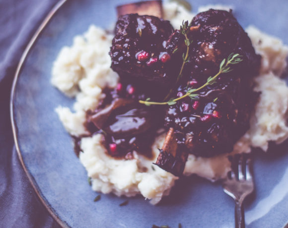 Pomegranate Cabernet Short Ribs