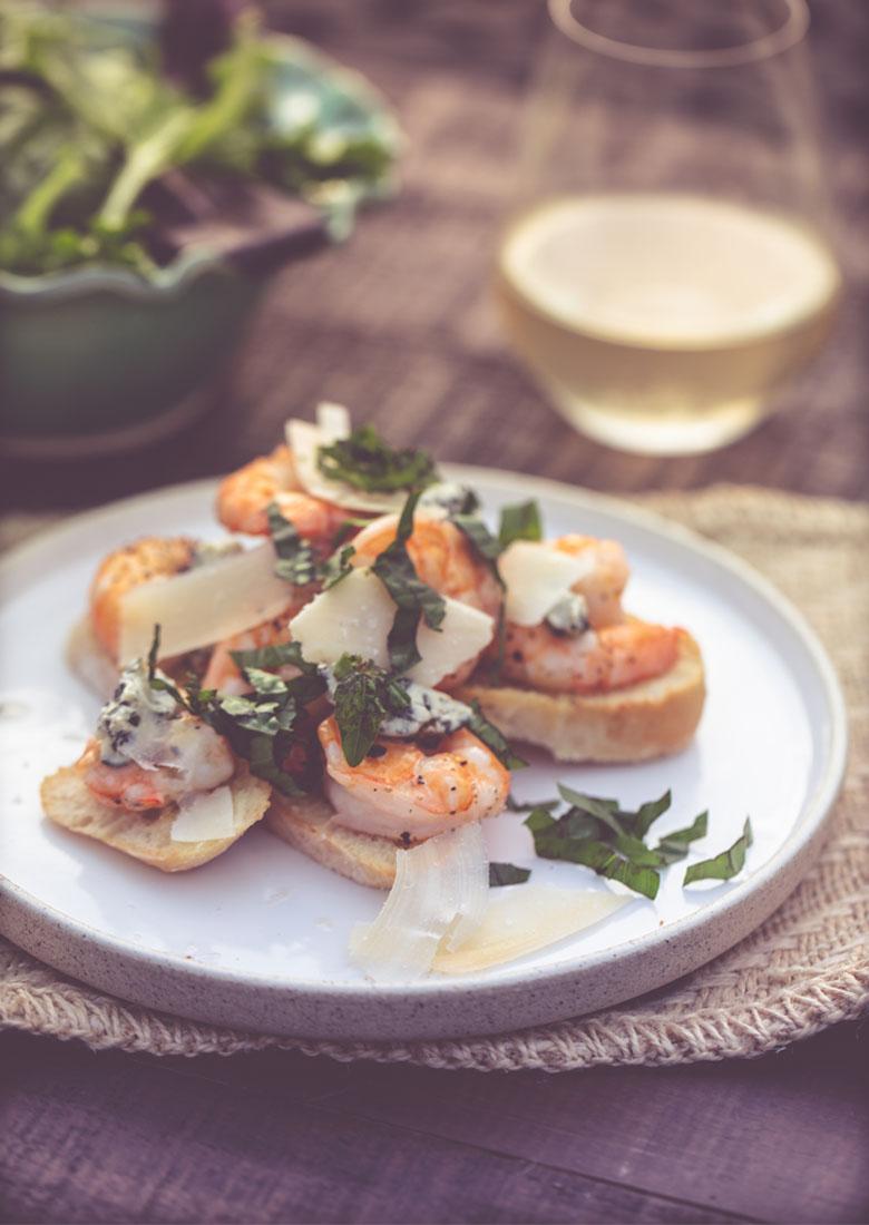 Basil Butter Shrimp