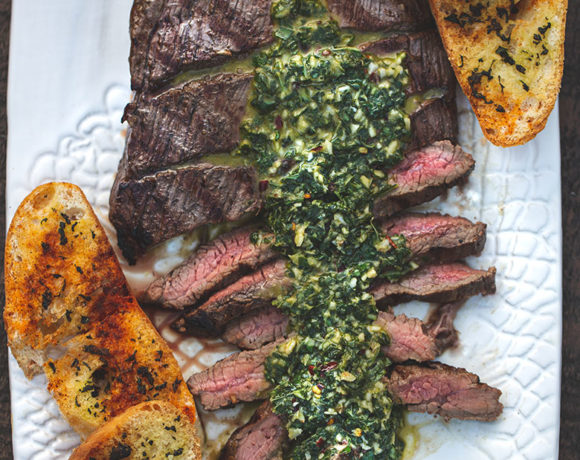 Basil Chimichurri Flank Steak