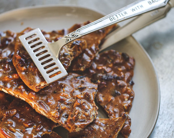 holiday fare: bourbon bacon brittle