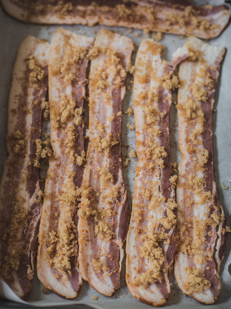 Brown sugar glazed balsamic bacon